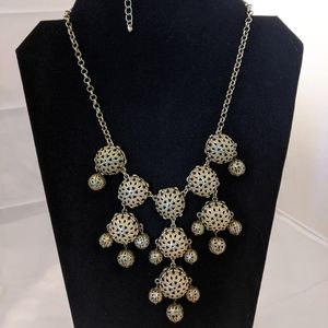 Filigree Bubble Statement Necklace